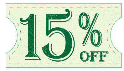 15% off through the month of September