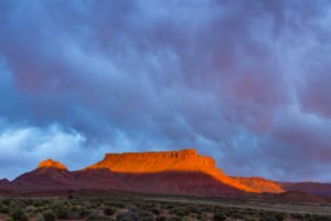 Dramatic storm at sunset in Canyon country of Southern Utah